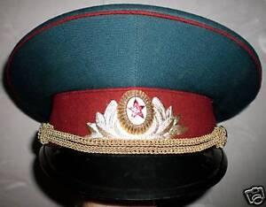762990f04df La foto se está cargando Soviet-URSS-Ejercito-Militar-desfile-Visera- Sombrero-Gorra-