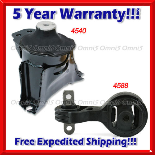 2PC Upper Torque Strut Mount Set A411 For 06-11 Civic 2.0L Front Right Motor