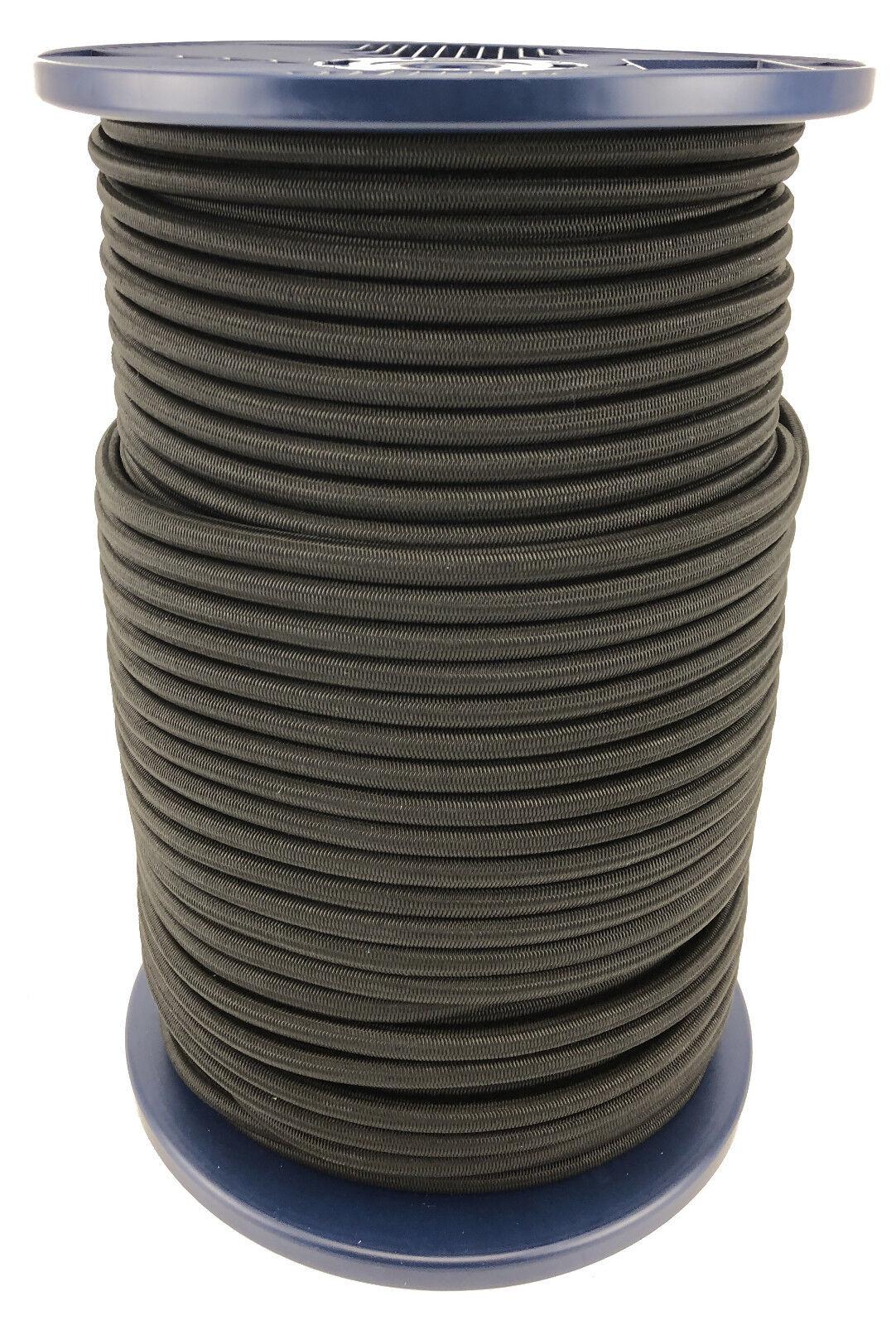 12mm zwart Elastic Bungee Rope x 40 Metres, Shock Cord Binden Down Heavy Duty