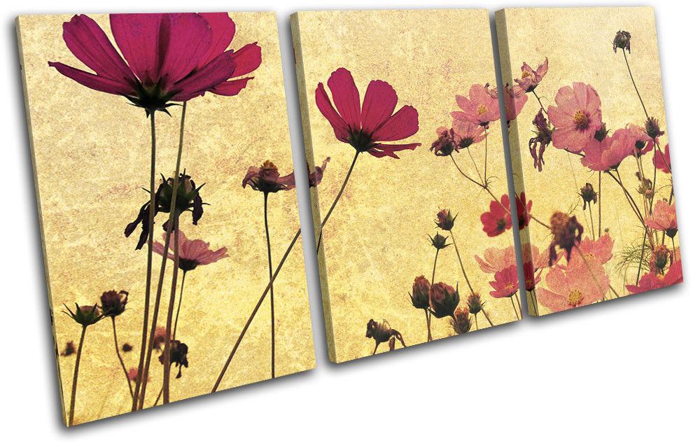 Floral TREBLE Vintage shabby chic Floral TREBLE Floral TOILE murale ART Photo Print 2fd562