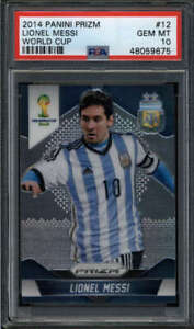 LIONEL MESSI 2014 PANINI PRIZM WORLD CUP #12 PSA 10 GEM MINT (ARGENTINA) FC6763