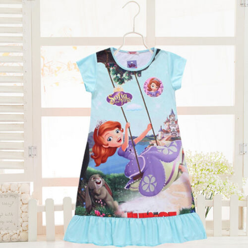 Toddler Kids Girls Dress Snow White Sofia Pajamas Nightgown Sleepwear 3-10 Years