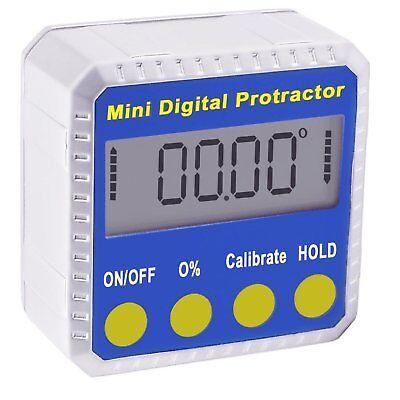 Bevel Digital Mini Gauge 0-360 LCD Protractor Base Inclinometer Magnet Angle Box