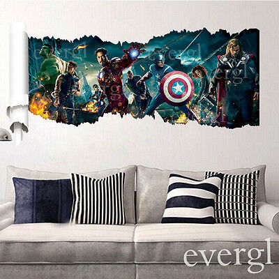 Movie The Avengers Removable Vinyl Wall Sticker Decals Kids Nursery Room WS