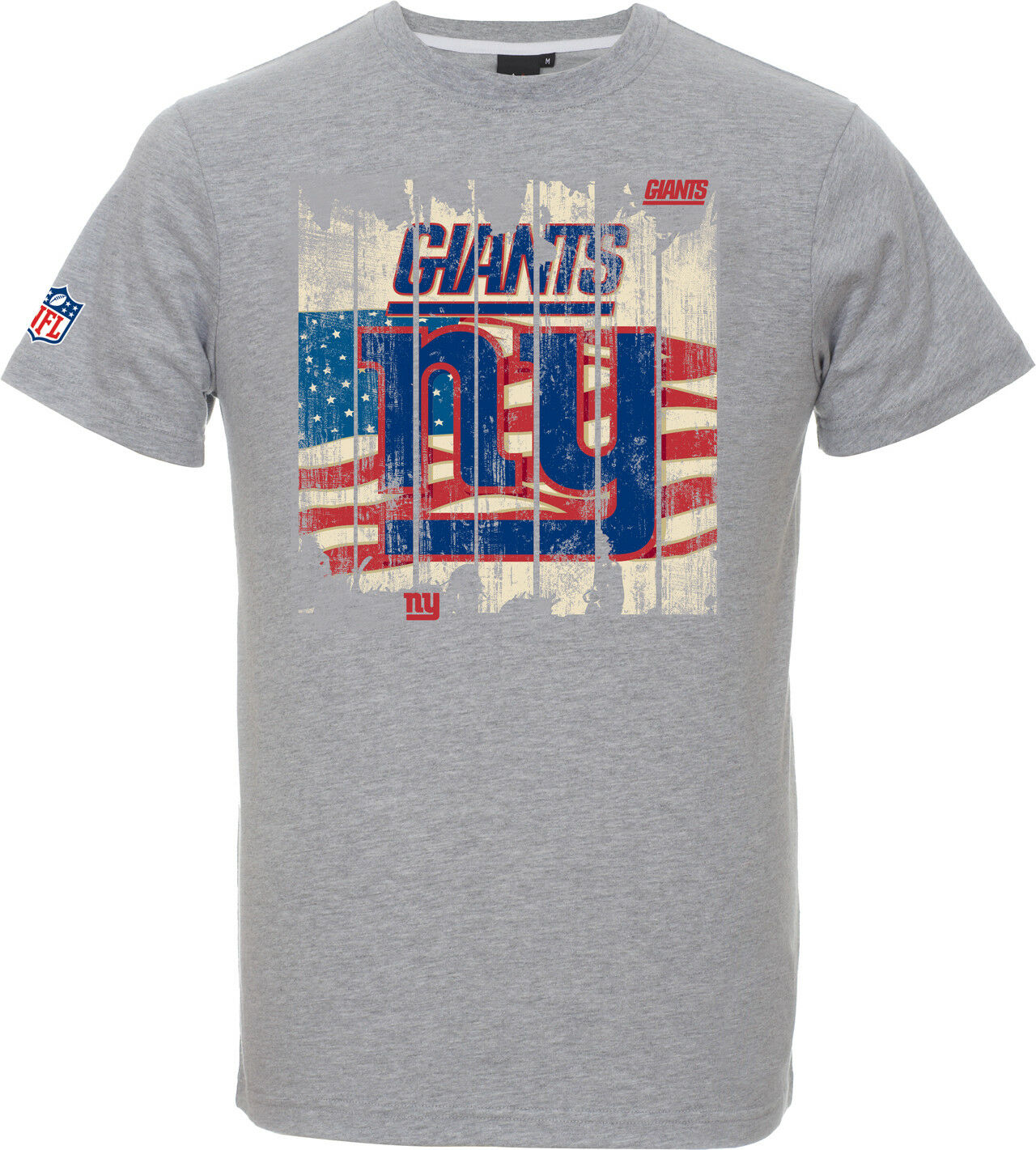 NFL Football T-Shirt T-Shirt T-Shirt NEW YORK NY GIANTS Picilo grau USA Flagge von Majestic e744cf