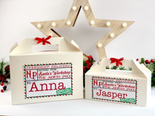 Personalised Christmas Eve Box Xmas Party Favour Present Stocking