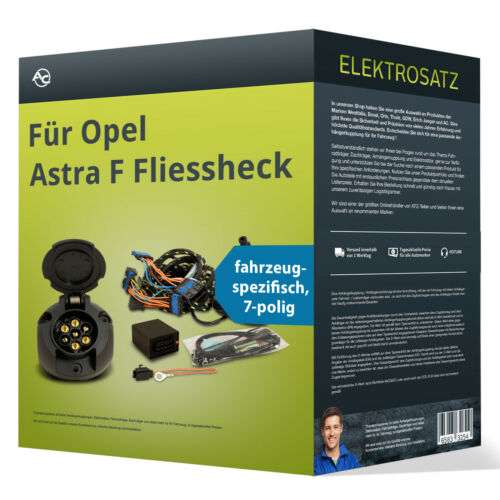 Opel Astra F Fliessheck Elektrosatz 7-pol EBA spezifisch NEU inkl