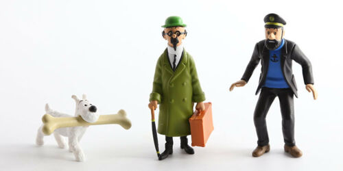 The Adventures of Tintin Action Figure Set Jouet de Enfants Cadeau Vente chaude