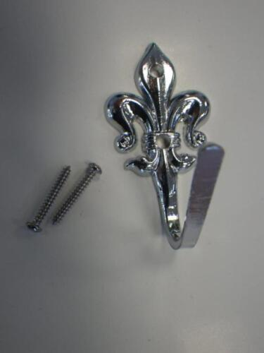 Zierhaken raffhaken métal chromé 56x26mm