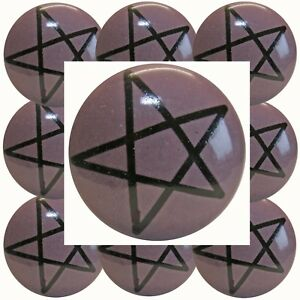 Moebelknoepfe-Set-6-8-10-STK-Lila-Flieder-Keramik-Moebelknopf-Pentagram-Stern-31