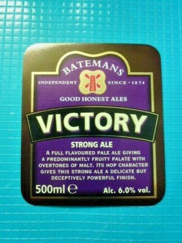 BATEMANS BREWERY.BEER BOTTLE LABEL VARIOUS LABELS FROM ВЈ1.25 EACH.1 P/&P COST