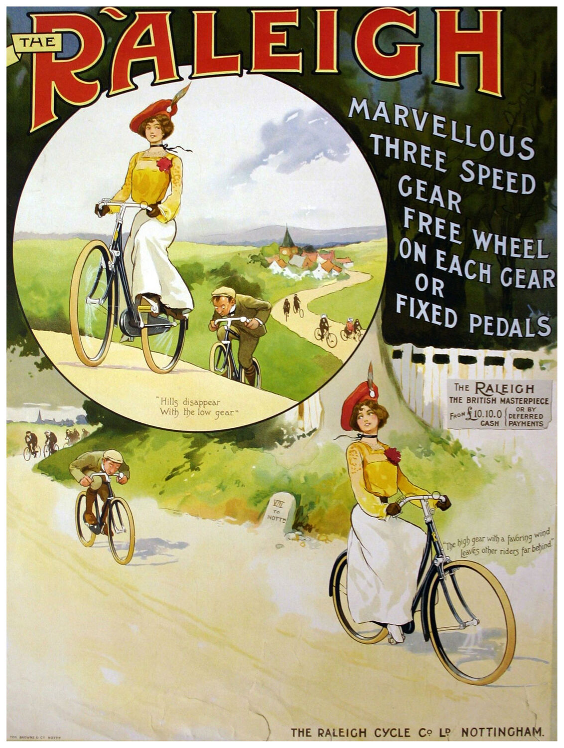 467.Ride a Raleigh Art Decoration POSTER Ad. Graphics to decorate home office.