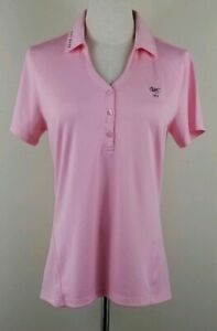 LEVELWEAR-Mila-Golf-Polo-Shirt-Womens-Size-M-Pink-Short-Sleeves-Stretch-NEW
