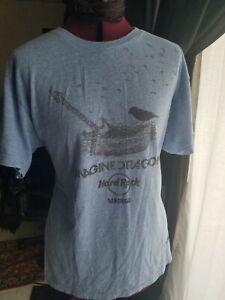 521a3c53e319 Imagine Dragons Hard Rock Chicago M Blue Short Sleeve T-shirt A3121 ...