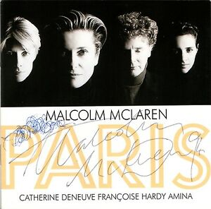 MALCOLM-McLAREN-paris-PROMO-CD-BOX-Amina-Catherine-Deneuve-booklet-AUTOGRAPHED