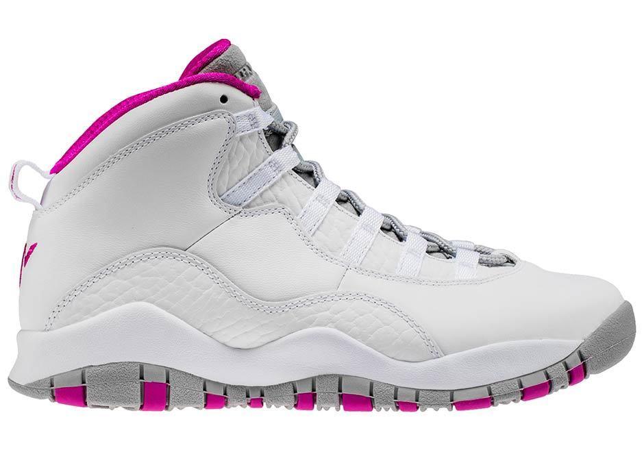 2017 Nike Air Jordan 10 X Retro white fuchsi Maya Moore PE Size 7y. AA2900-159 7