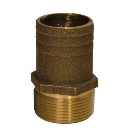 Groco 1-1 4  Npt X 1-1 2  Bronze  Full Flow Pipe To Hose Straight Fitting  no hesitation!buy now!