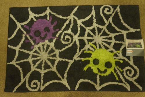 "NEW Halloween Spiderweb Bath Rug  20/"" x 30/"""