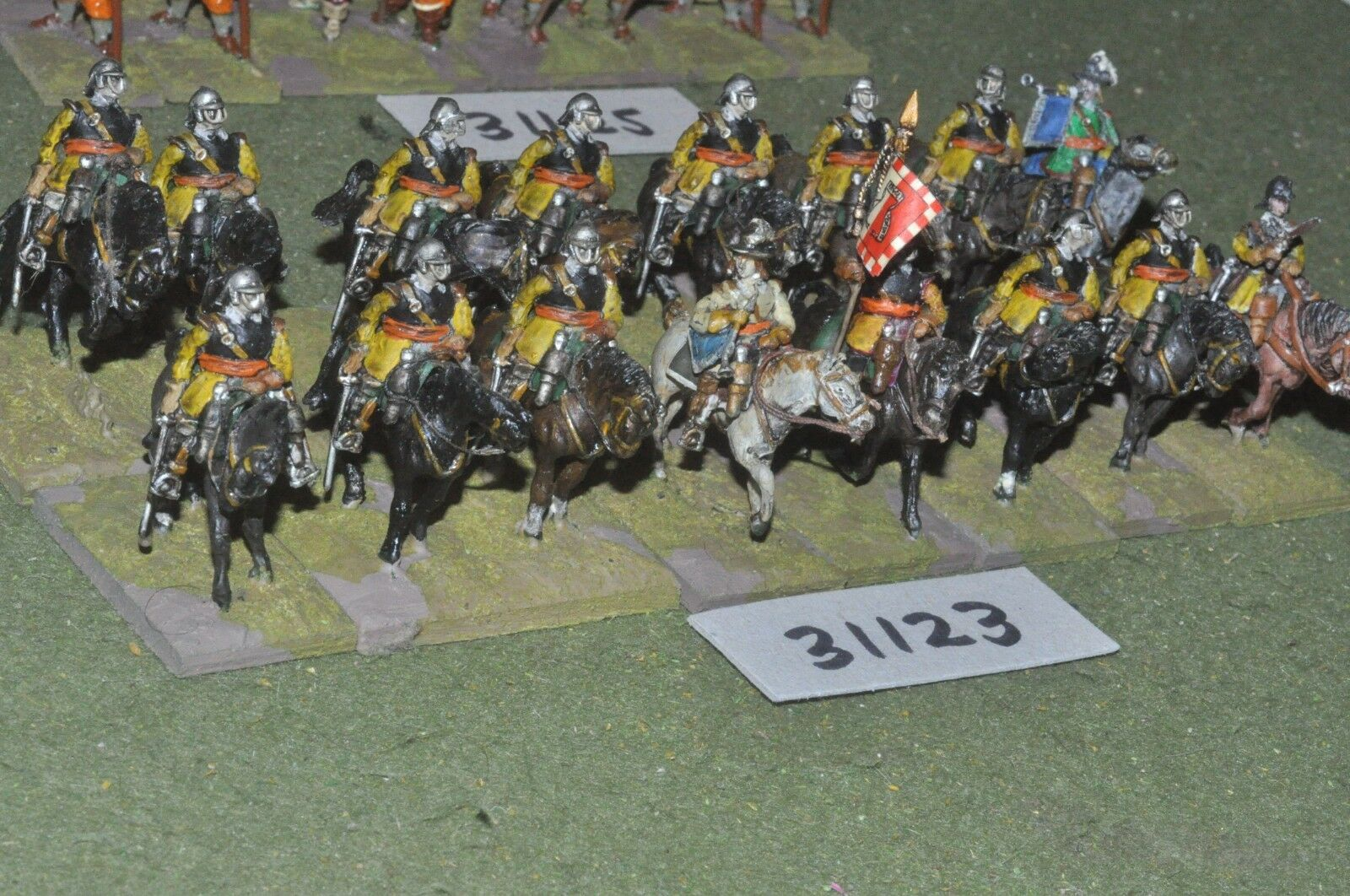 25mm ECW   parliament - roundheads 16 figures - cav (31123)