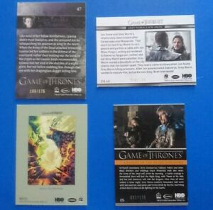 Game of Thrones Season 8 limited edition Cards Rittenhouse Archives