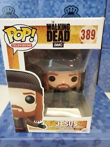 Funko-POP-The-Walking-Dead-Vinyl-Figure-JESUS-389-Non-Mint-Box