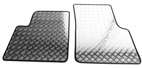 Fußmatten Alu Riffelblech für VW  Caddy 3 Life 03//2004-2016