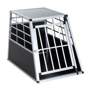 36-034-Aluminum-Dog-Cage-Pet-Transport-Box-Crate-Kennel-Playpen-w-Lock
