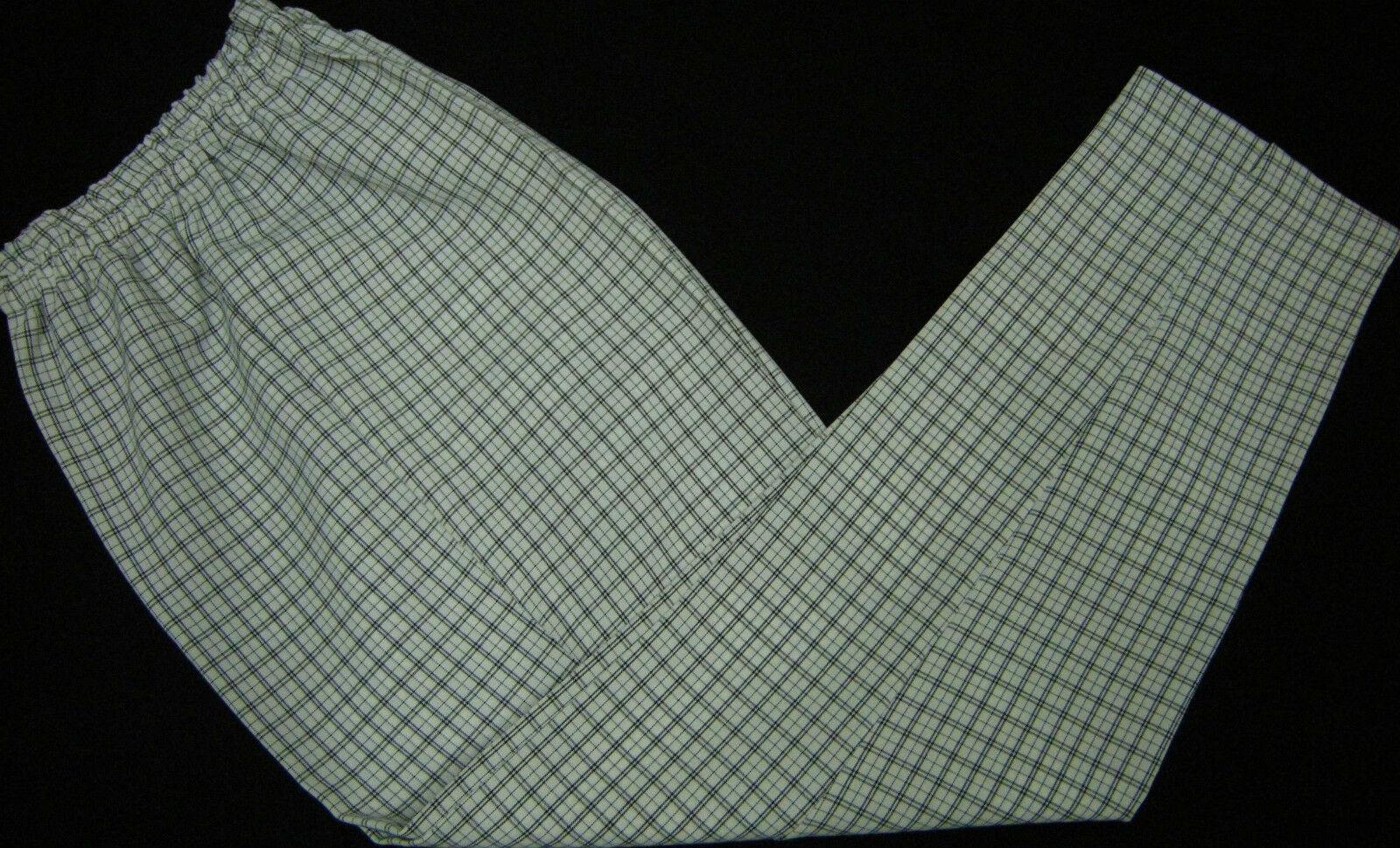 1 bequeme Schlupf-Hose Größe 38/40 in weißtöne schwarzkariert