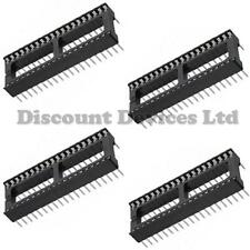 4x 40 Pin RoHS PCB IC Socket DIL/DIP 40 way 0.6""