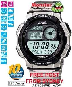 CASIO-WATCH-AE-1000WD-1AV-AE-1000W-AE1000-AE1000W-12-MNTH-WARANTY