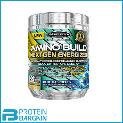 MuscleTech Amino Build Next Gen Energized 30 servings with Caffeine All Flavours
