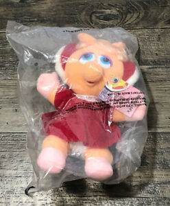 Vintage-1988-Baby-Miss-Piggy-Plush-Doll-McDonald-039-s-Jim-Henson-039-s-Muppets-9in-New