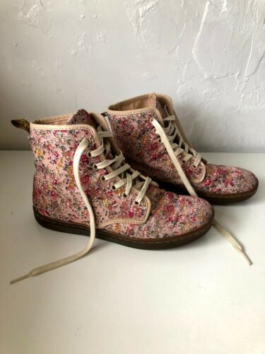 Doc Martin floral print boots