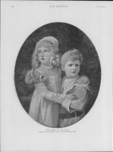 1901-FINE-ART-Antique-Print-Babes-Wood-Merrall-Children-Sidney-Portrait-251