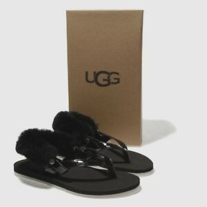 5937116d3a8d Image is loading New-UGG-Women-LaaLaa-Sandals-Shoes-Ankle-Faux-