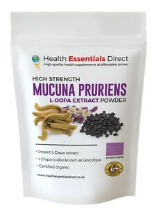 Mucuna-pruriens-Alta-Resistencia-Polvo-Extracto-40-L-dopa-levodopa-Elegir-Talla
