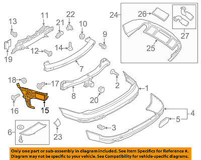 NEW AUDI Q7 07-15 GENUINE FRONT BUMPER RIGHT O//S SUPPORT BRACKET 4L0807284B