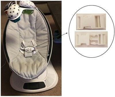 1x 4moms Mamaroo Newborn Baby Swing Seat White Harness Clip Buckle Replacement New Varieties Are Introduced One After Another
