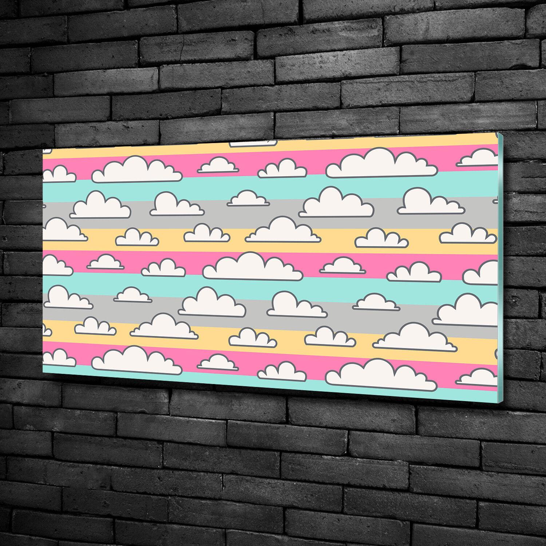 Glas-Bild Wandbilder Druck auf Glas 100x50 Deko Kinderzimmer Wolke