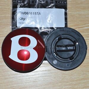 Genuine Bentley Continental Gt Flying Spur V8 Wheel Center Cap Red Quot B Quot 3w0601157a Ebay