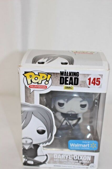 edce986574a Funko Pop TV Walking Dead  145 Black and White Daryl Dixon WALMART EXCLUSIVE