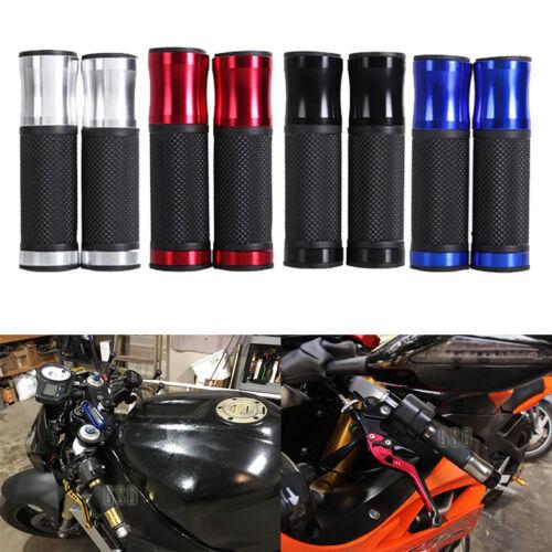 "Motorcycle 7//8/"" Handle Bar Hand Grips For Honda Yamaha Suzuki Street Fighter US"