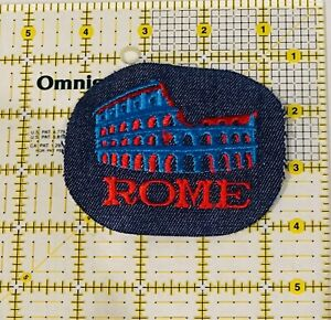 Rome Patch Iron On New Embroidered