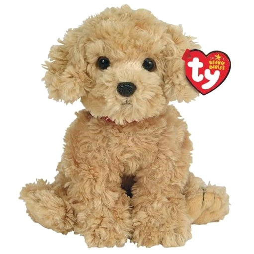 "New! Rare Ty Beanie Babies Dooley Golden Retriever Dog 7"" Plush Stuffed Animal"