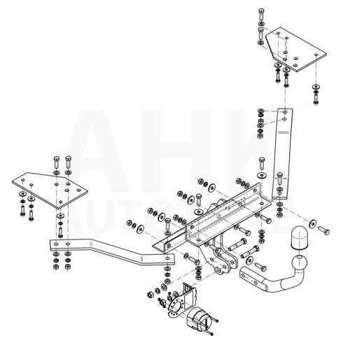 Für Volvo V50 Kombi Anhängerkupplung starr+ES 13p ABE