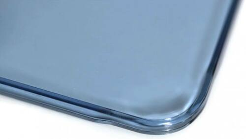 Tuf Flat Shield Blue License Plate Frame Universal Fit
