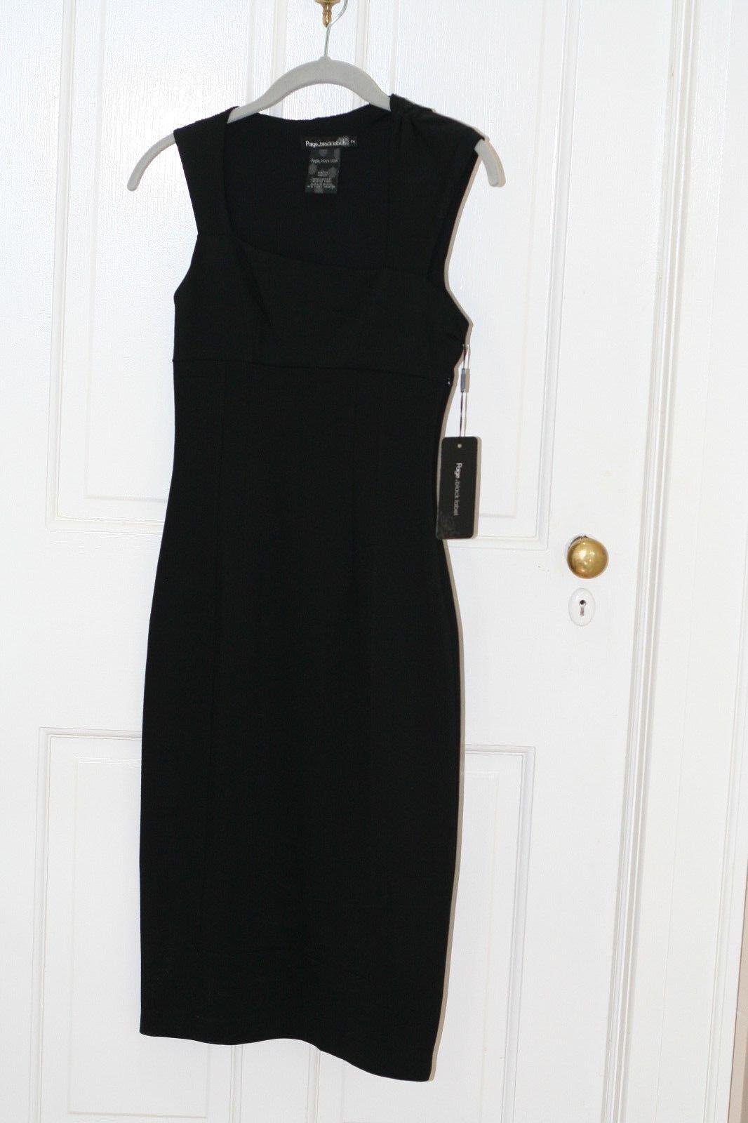 PAIGE schwarz Label Stretch Empire Waist schwarz Dress Sz 2 NWT