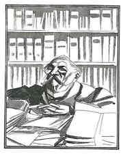 Der JURIST - René Georges HERMANN-PAUL - Original Holzschnitt 1927