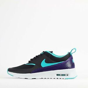 hot sale online 4ed69 343ee Image is loading Nike-Air-Max-Thea-Premium-Womens-Shoes-Black-