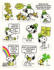 Vintage Hallmark Peanuts St Patricks Day Sticker Sheet- Snoopy Tweety Leprechaun